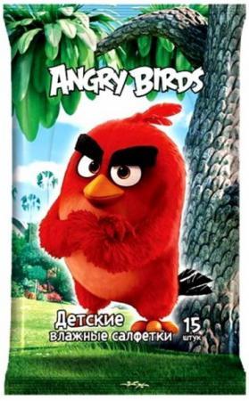 Салфетки влажные Angry Birds Movie №15 15 шт не содержит спирта в ассортименте жевательная конфета angry birds в стиках 25гр