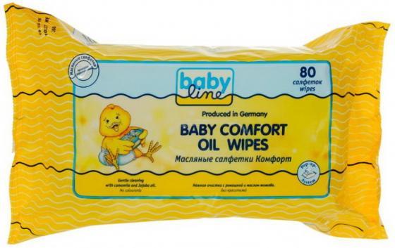 Салфетки влажные Babyline Комфорт 80 шт не содержит спирта салфетки babyline влажные салфетки комфорт sensitive 80 шт