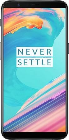 Смартфон OnePlus 5T черный 6 128 Гб NFC LTE Wi-Fi GPS 3G 5011100082 смартфон apple iphone 6 серый 4 7 32 гб nfc lte wi fi gps 3g mq3d2ru a