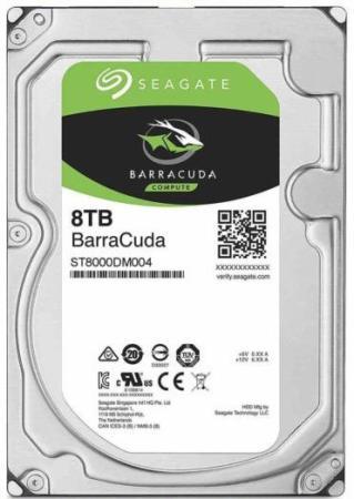 Жесткий диск 3.5 8 Tb 7200rpm 256Mb cache Seagate Barracuda SATAIII ST8000DM004 жесткий диск 3 5 3 tb 7200rpm 128mb cache seagate sataiii st3000nm0005