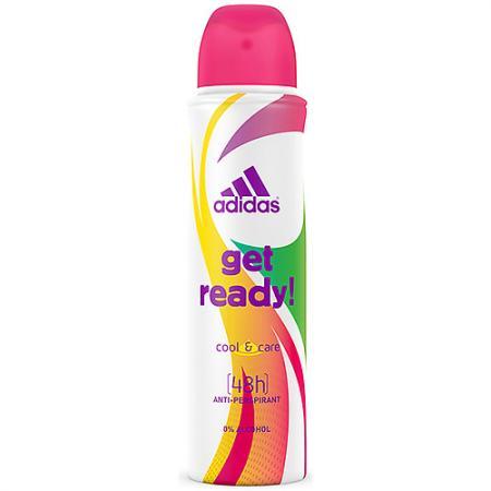 Дезодорант-антиперспирант ADIDAS Cool & Care Get Ready! 150 мл цветочно-фруктовый 31999153000 adidas дезодорант антиперспирант ролик cool