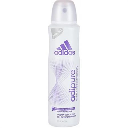 Дезодорант ADIDAS Adipure 150 мл 31707027000 adidas дезодорант антиперспирант спрей adipure для мужчин 150 мл