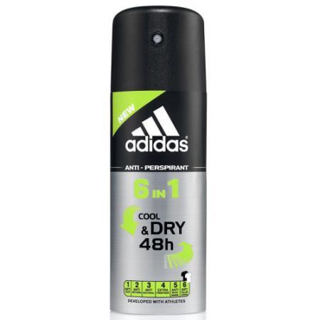 Дезодорант-антиперспирант ADIDAS 6in1 150 мл 31999155000 adidas pure game дезодорант 150 мл
