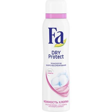 Дезодорант-антиперспирант Fa Dry Protect - Нежность хлопка 150 мл антиперспирант maxim dabomatic 30% дезодорант максим