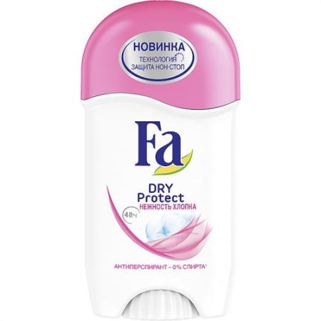 FA Дезодорант-антиперспирант стик Dry Protect Нежность хлопка 50мл в аптеке дезодорант dry dry в одессе