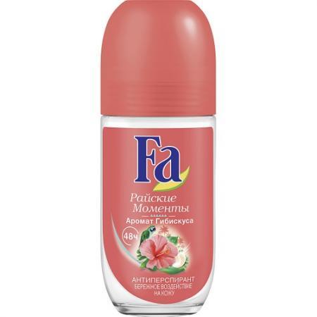 Дезодорант-антиперспирант Fa Райские моменты 50 мл цветочный дезодорант ролл 48 часов для женщин lavilin 65 мл hlavin