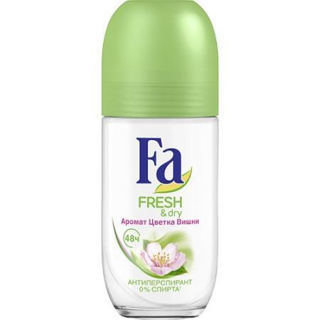 FA Дезодорант-антиперспирант роликовый Fresh&Dry Цветок Вишни 50мл в аптеке дезодорант dry dry в одессе