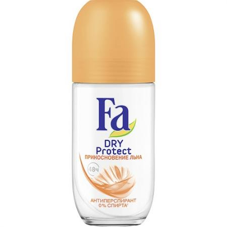 Дезодорант-антиперспирант Fa Dry Protect - Прикосновение льна 50 мл дезодорант ролл breeze perfect beauty 48 часов 50 мл