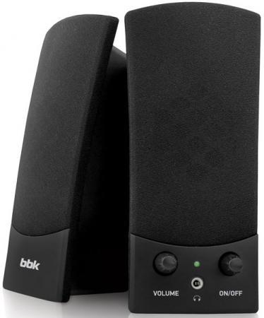 Колонки BBK CA-196S 2x1 Вт черный компьютерная акустика bbk ca 196s черный