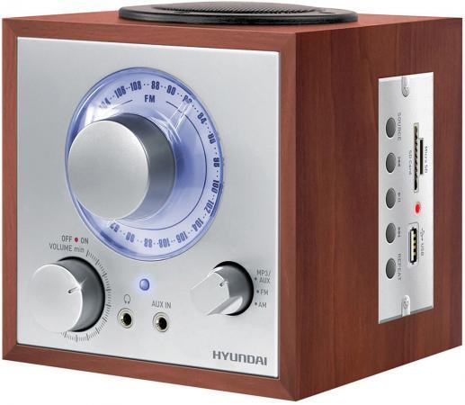 лучшая цена Радиоприемник Hyundai H-SRS200 вишня