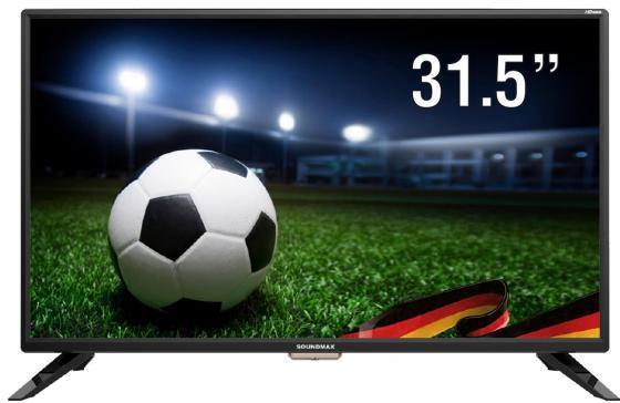Телевизор LED 32 Soundmax SM-LED32M01 черный 1366x768 USB HDMI VGA S/PDIF телевизор 28 samsung lt28e310ex hd 1366x768 vga usb hdmi черный