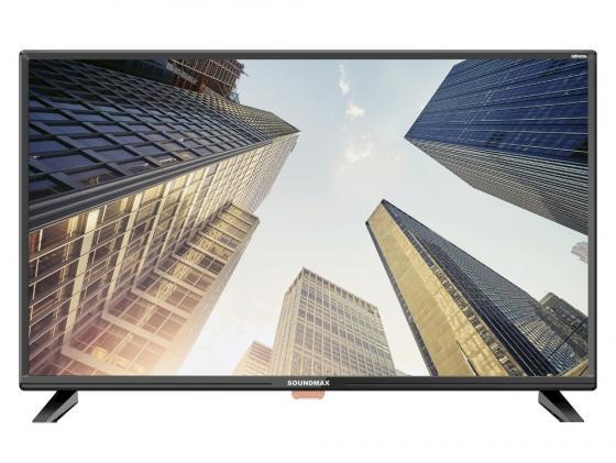 Телевизор LED 32 Soundmax SM-LED32M02 черный 1366x768 USB HDMI VGA S/PDIF телевизор 28 samsung lt28e310ex hd 1366x768 vga usb hdmi черный