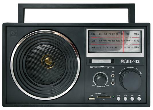 Радиоприемник Сигнал Patriot Эфир-13 черный радиоприемник сигнал cr 169 черный