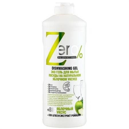 Средство для мытья посуды ZERO Яблочный уксус 500мл