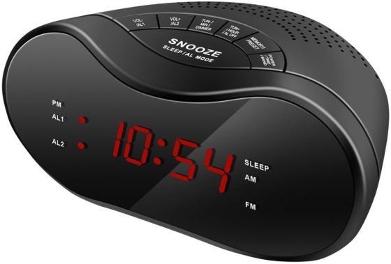 Радиобудильник Hyundai H-RCL160 чёрный радиобудильник uniel utp 49ykx