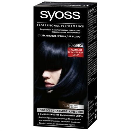 Syoss Color Краска для волос 1-4 Иссиня-черный спрей тонирующий syoss root retoucher черный 120мл активатор цвета