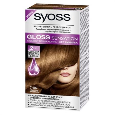 SYOSS Gloss Sensation Краска для волос 7-86 Медовая карамель 115 мл