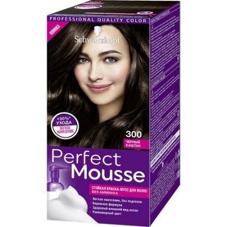 PERFECT MOUSSE Краска для волос 300 Черный Каштан мусс тонирующий тон 1 sand soft touch matt mousse essence