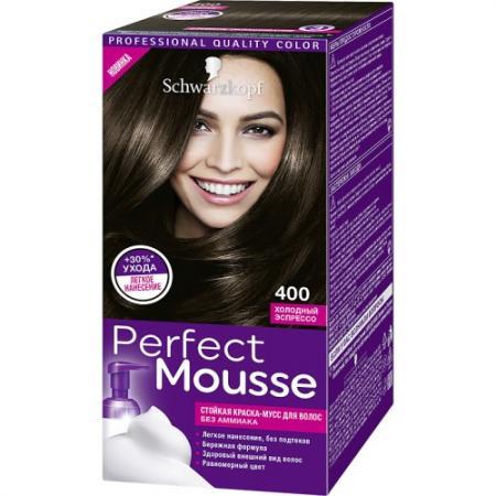 PERFECT MOUSSE Краска для волос 400 Холодный эспрессо мусс тонирующий тон 1 sand soft touch matt mousse essence