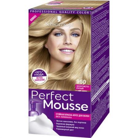 PERFECT MOUSSE Краска для волос 950 Золотисто-Русый мусс тонирующий тон 1 sand soft touch matt mousse essence