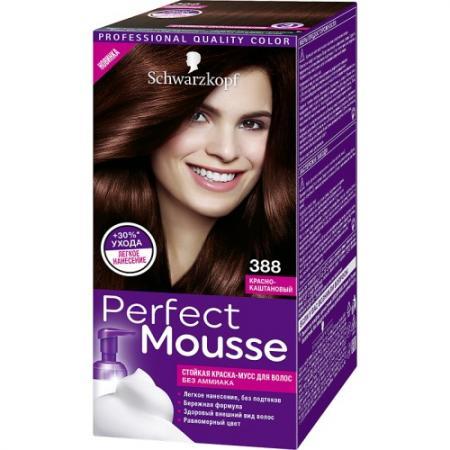 PERFECT MOUSSE Краска для волос 388 Красно-Каштановый краска для волос 5 36 морозный мокко perfect mousse