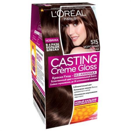LOREAL CASTING CREME GLOSS Крем-краска для волос тон 515 морозный шоколад недорого