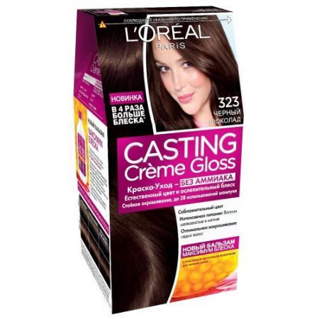 Фото LOREAL СASTING CREME GLOSS Крем-краска для волос тон 323 черный шоколад
