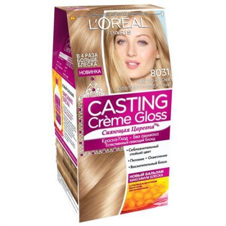 LOREAL CASTING CREME GLOSS Крем-Краска для волос тон 8031 Cветло-русый золотисто-пепельный недорого