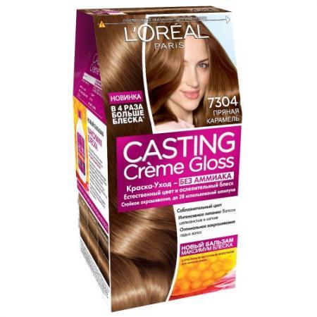 LOREAL CASTING CREME GLOSS Крем-Краска для волос тон 7.304 прянная карамель