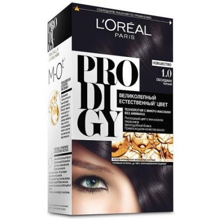 LOREAL PRODIGY Краска для волос тон 1.0 обсидиан