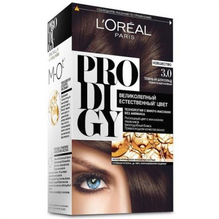 LOREAL PRODIGY Краска для волос тон 3.0 темный шоколад