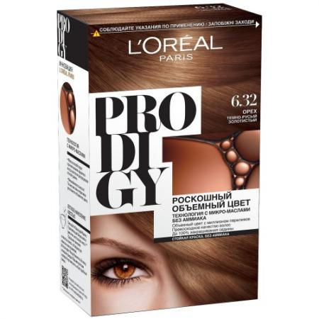 LOREAL PRODIGY Краска для волос тон 6.32 орех