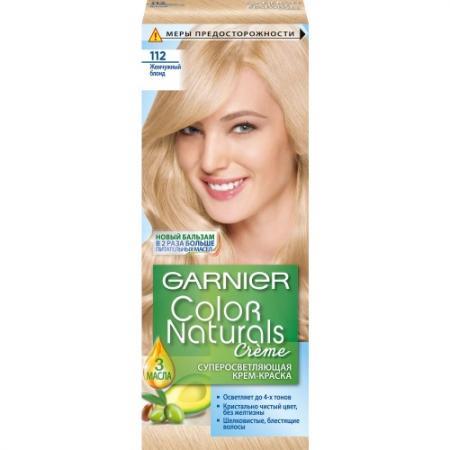 GARNIER Краска для волос COLOR NATURALS 112 Жемчужный Блондин garnier стойкая крем краска для волос olia без аммиака 10 1 пепельный блондин