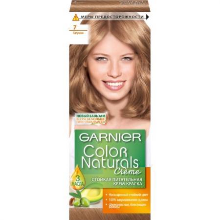 GARNIER Краска для волос COLOR NATURALS 7 Капучино garnier краска для волос color naturals 7 капучино