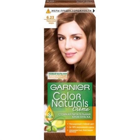 GARNIER Краска для волос Color Naturals 6.23 Перламутровый миндаль