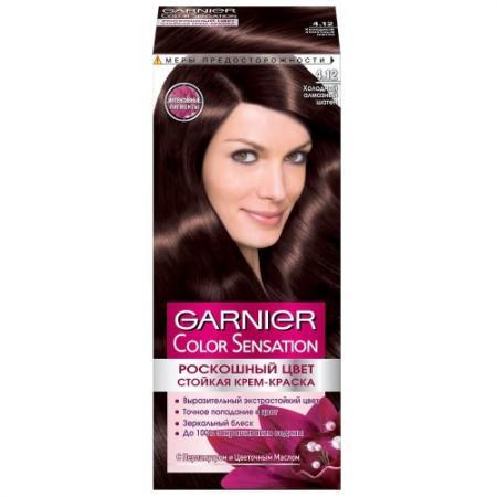GARNIER Краска для волос Color Sensation 4.12 Холодный алмазный шатен garnier краска для волос color sensation 5 51 рубиновый шатен