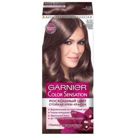 GARNIER Краска для волос Color Sensation 6.12 Сверкающий холодный мокко garnier стойкая крем краска для волос color sensation роскошь цвета 9 13 кремовый перламутр 110 мл