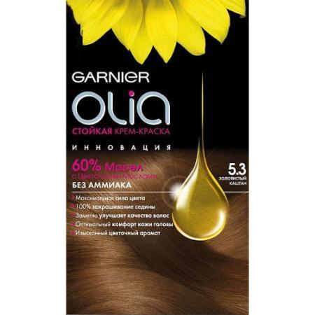 GARNIER Краска для волос OLIA 5.3 Золотистый каштан краска для волос garnier garnier ga002lwivr88
