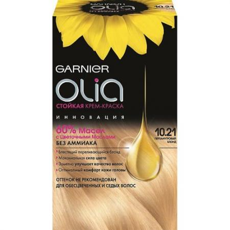 GARNIER Краска для волос OLIA 10.21 Перламутровый блонд garnier стойкая крем краска для волос olia без аммиака оттенок 5 9 сияющий каштановый бронз