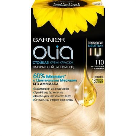 GARNIER Краска для волос OLIA 110 Натуральный суперблонд garnier стойкая крем краска для волос olia без аммиака оттенок 5 9 сияющий каштановый бронз