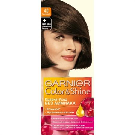 GARNIER Краска для волос COLOR&SHINE 4.0 Каштановый garnier стойкая крем краска для волос olia без аммиака оттенок 5 9 сияющий каштановый бронз