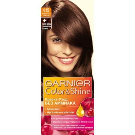 GARNIER Краска для волос COLOR&SHINE 4.15 Морозный Каштан