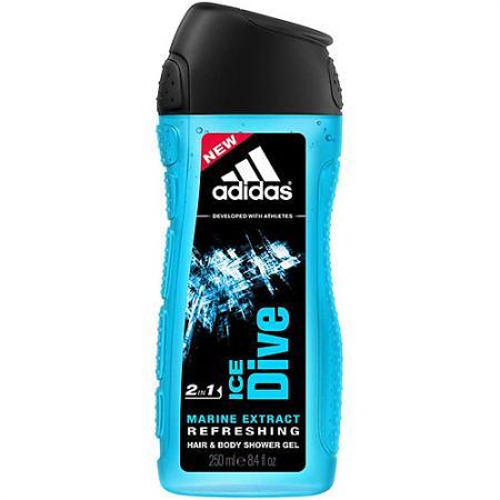Adidas Ice Dive гель для душа для мужчин 250мл adidas гель для душа шампунь и гель для умывания для мужчин ice dive 250 мл