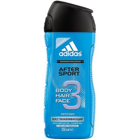Adidas After Sport гель для душа для мужчин 250мл гель kapous professional after wax refreshing gel with menthol and camphor