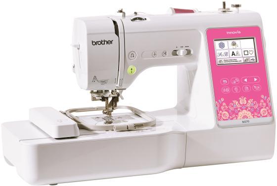 Швейная машина Brother M270 белый/розовый швейная машина brother vitrage m 77 4977766749640