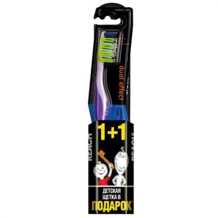 REACH Dualeffect Зубная щетка средняя REACH Wonder Grip Зубная щетка детская 6 - 12 лет в ПОДАРОК