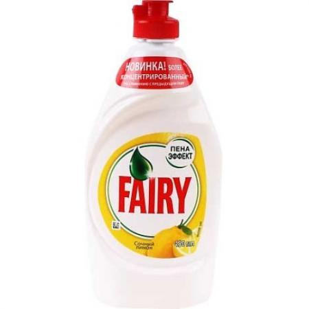 FAIRY Средство для мытья посуды Сочный лимон 450мл средство для мытья посуды fairy сочный лимон 5 л