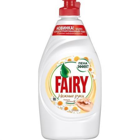 FAIRY Средство для мытья посуды Нежные руки Ромашка и витамин Е 450мл