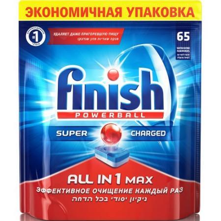 FINISH All in1 Max Средство для мытья посуды в посудомоечных машинах таблетки 65шт таблетки для посудомоечной машины finish all in 1 max 13 шт
