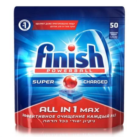 FINISH Shine&Protect All in1 Средство для мытья посуды в посудомоечных машинах таблетки 50шт средство для мытья посуды fairy original all in one для посудомоечных машин лимон 60 [fr 81574625]